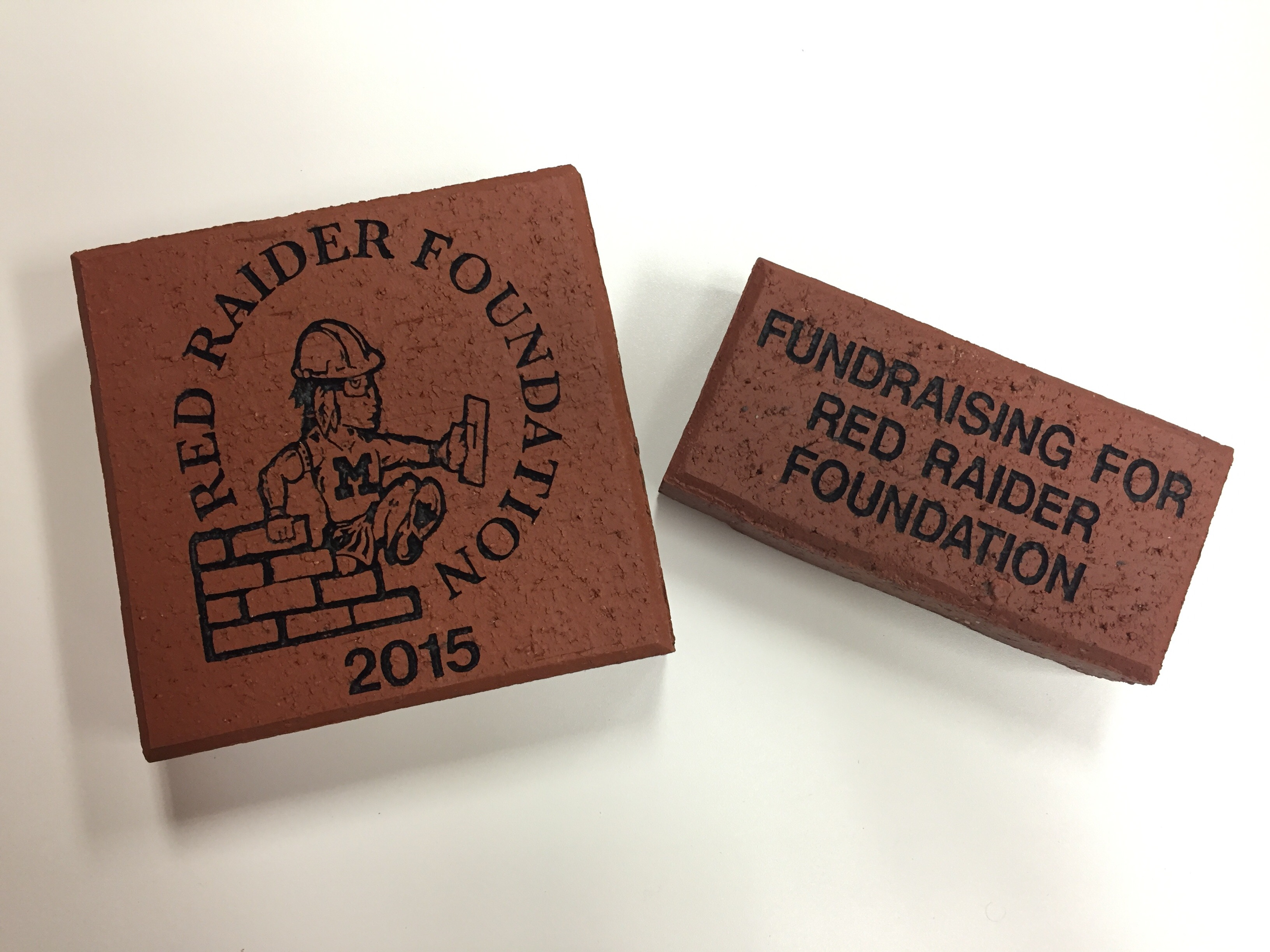 Pictures of Red Raider Foundation Bricks